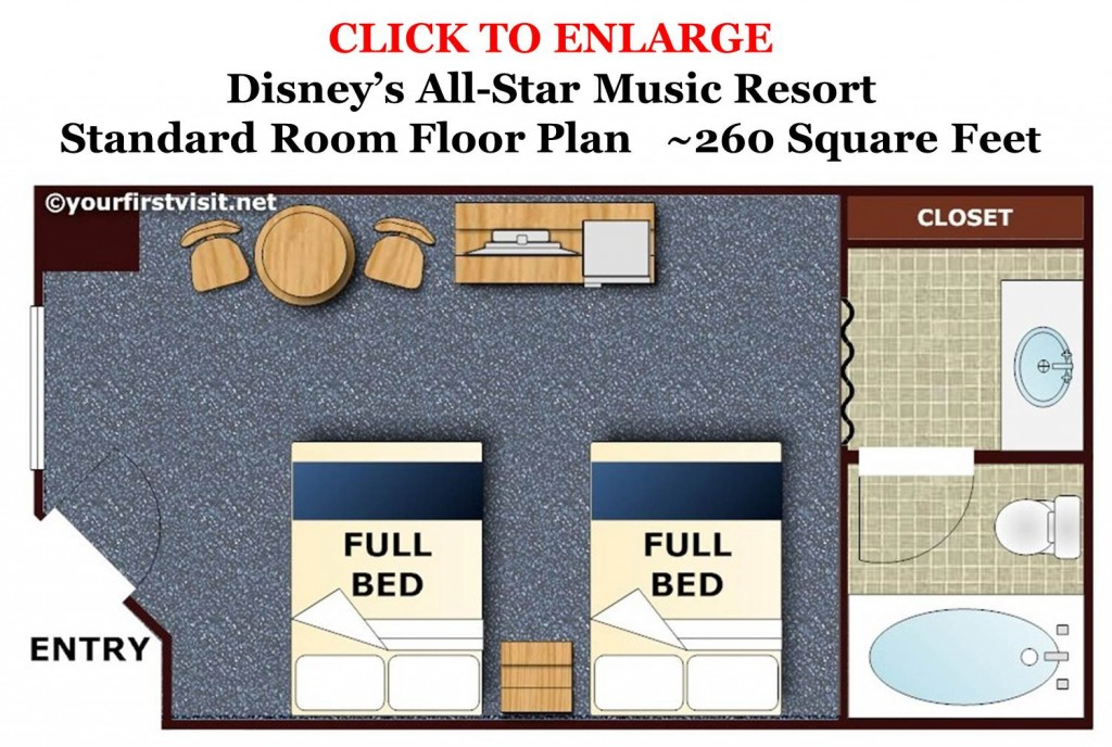 All-Star Music Floor Plan from yourfirstvisit.net