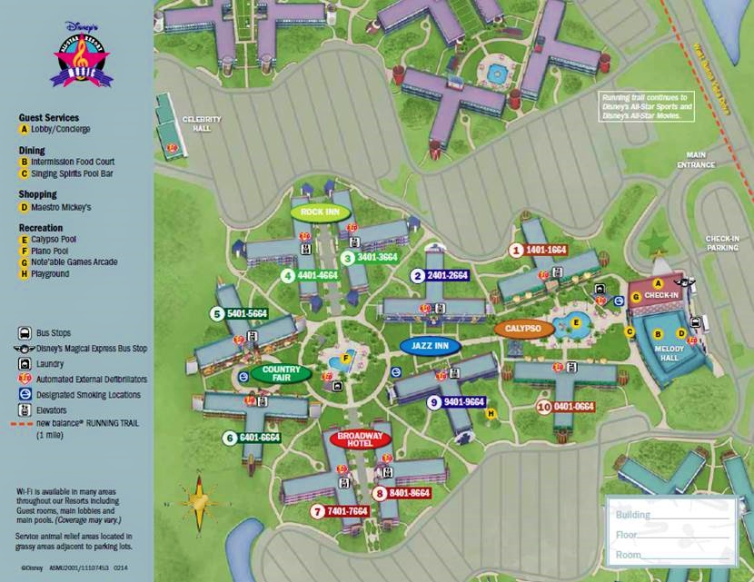 Map Disney's All-Star Music Resort