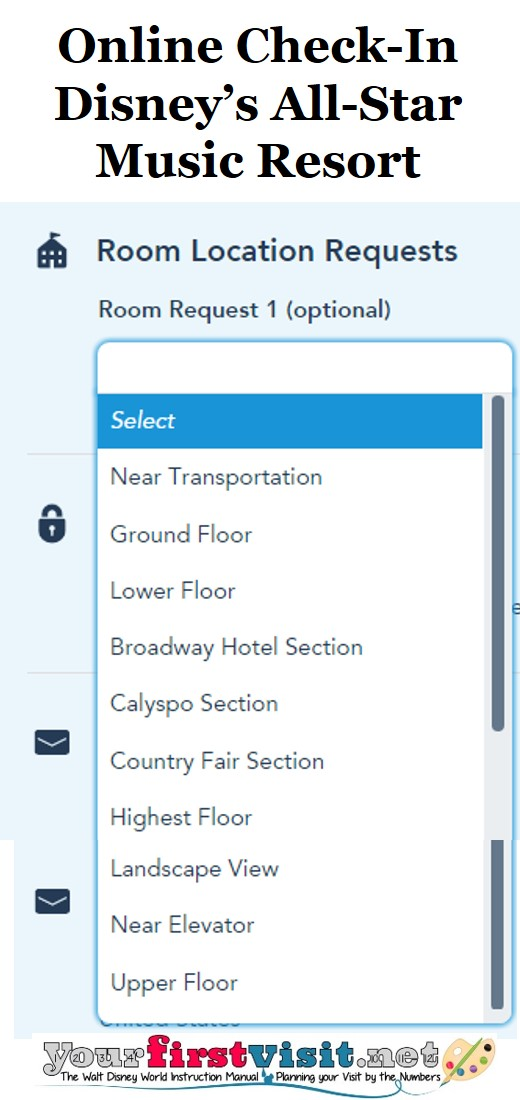 Online Check-In All-Star Music Resort from yourfirstvisit.net