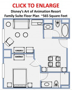 Disney's Art of Animation Resort Family Suite Floor Plan from yourfirstvisit.net