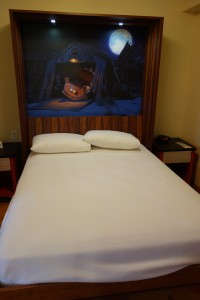 Table Bed Unfolded in Cars Family Suite at Disney's Art of Animation Resort--from yourfirstvisit.net