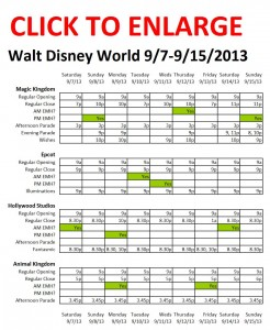 Disney World 9-7 to 9-15-2013 from yourfirstvisit.net