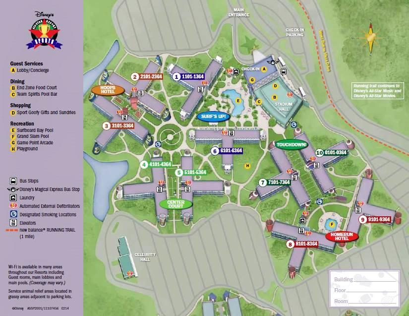 Map Disney's All-Star Sports Resort