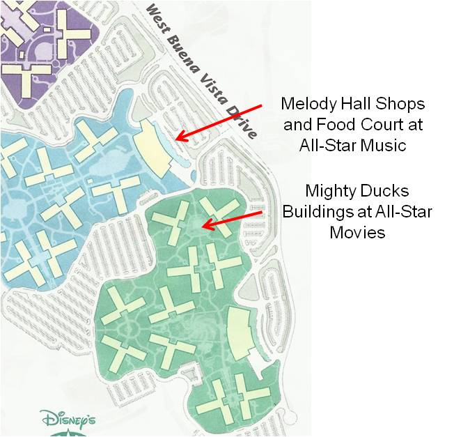 Disney All Star Music Resort Map