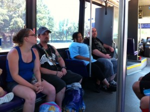 On the Bus at Walt Disney World