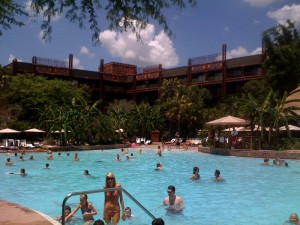 Uzima Springs Pool at Disney's Animal Kingdom Lodge Jambo House from yourfirstvisit.net