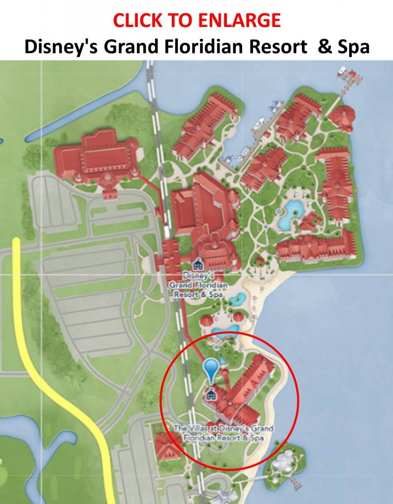 Map The Villas at Disney's Grand Floridian Resort and Spa