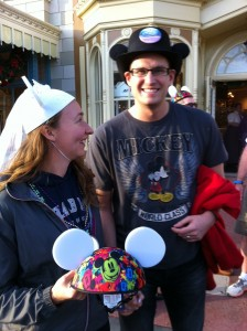 Newlyweds and Hat at the Meet Up