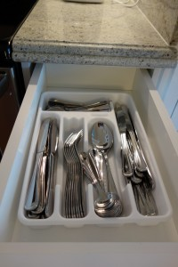 Flatware Kitchen in One and Two Bedroom Villas at Disney's Grand Floridian Resort & Spa from yourfirstvisit.net