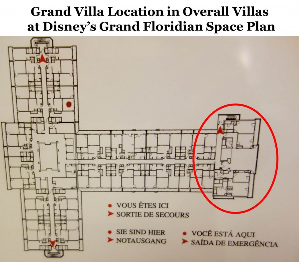 Grand Villa Location in Space Plan at Villas at the Grand Floridian