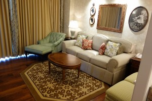 Living Room  in One and Two Bedroom Villas at Disney's Grand Floridian Resort & Spa from yourfirstvisit.net