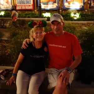 Me and Linda Stevens-Jones at the Magic Kingdom