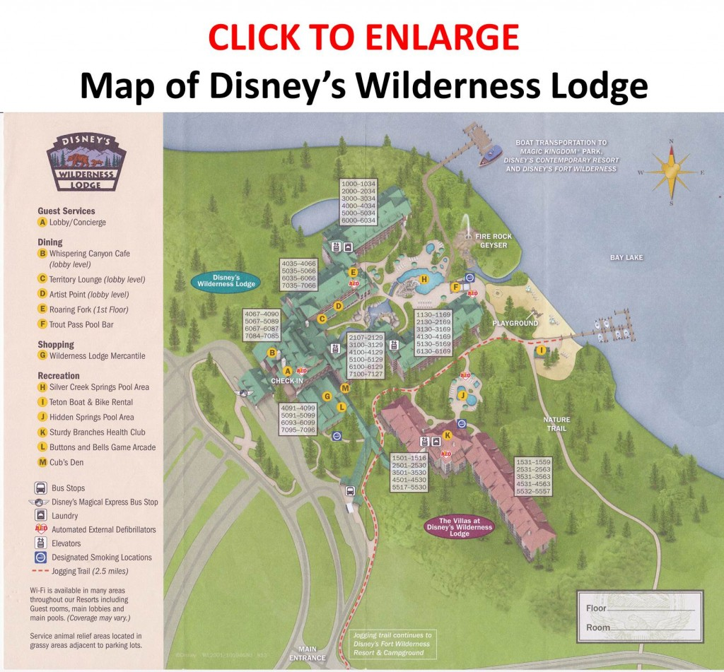 Map of Disney's Wilderness Lodge from yourfirstvisit.net