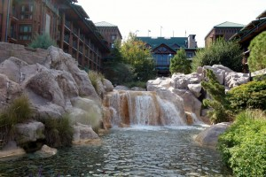 Waterfall at Disney's Wilderness Lodge from yourfirstvisit.net