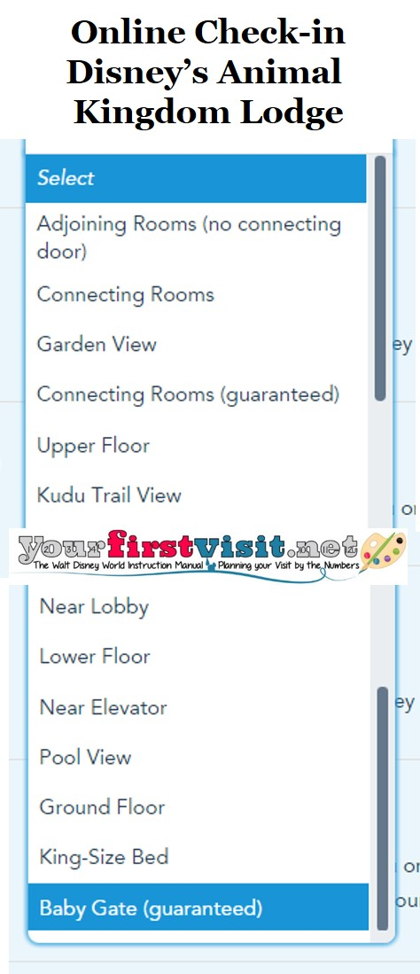 Disney's Animal Kingdom Lodge Online Check-in from yourfirstvisit.net