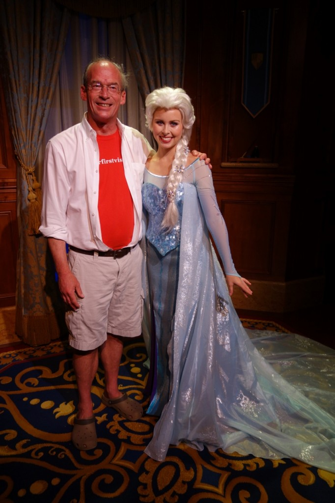 Me and Elsa at Magic Kingdom from yourfirstvisit.net