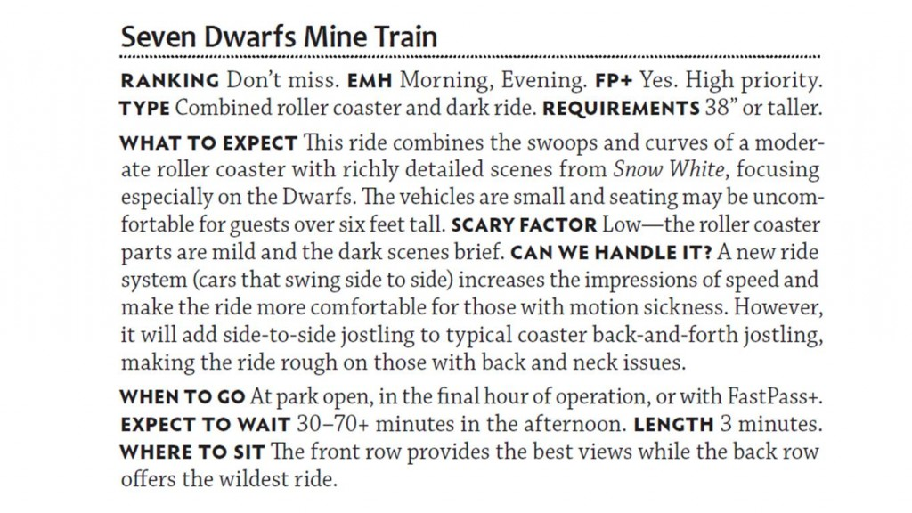 Seven Dwarfs Mine Train from The easy Guide