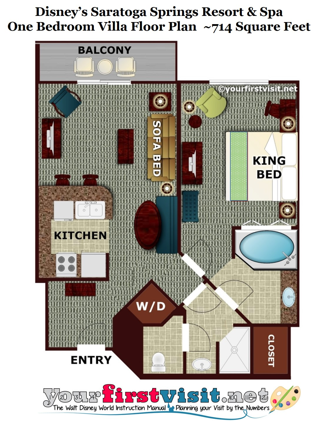 Review disney 39 s saratoga springs resort spa for Villa floor plans