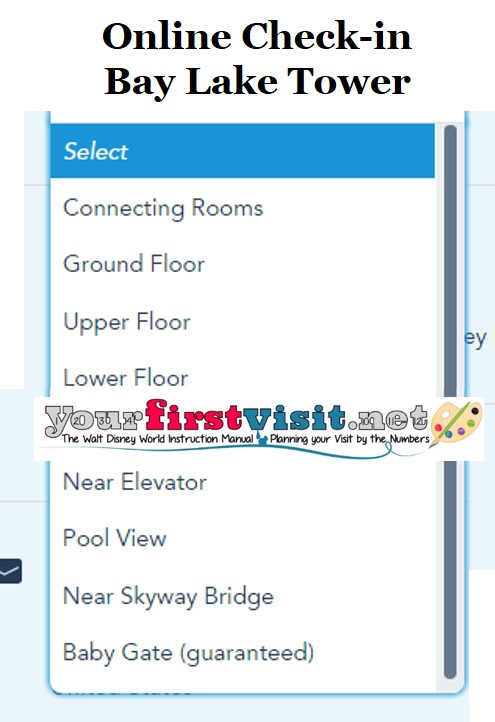 Bay Lake Tower Online Check-in from yourfirstvisit.net