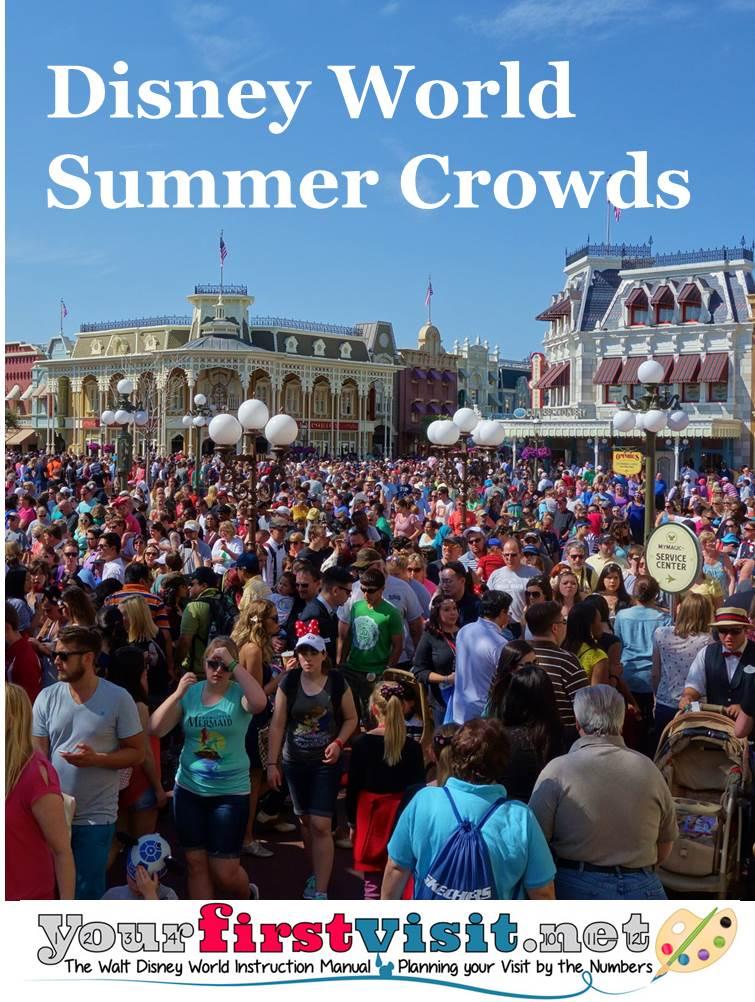 Disney World Summer 2015 Crowds from yourfirstvisit.net