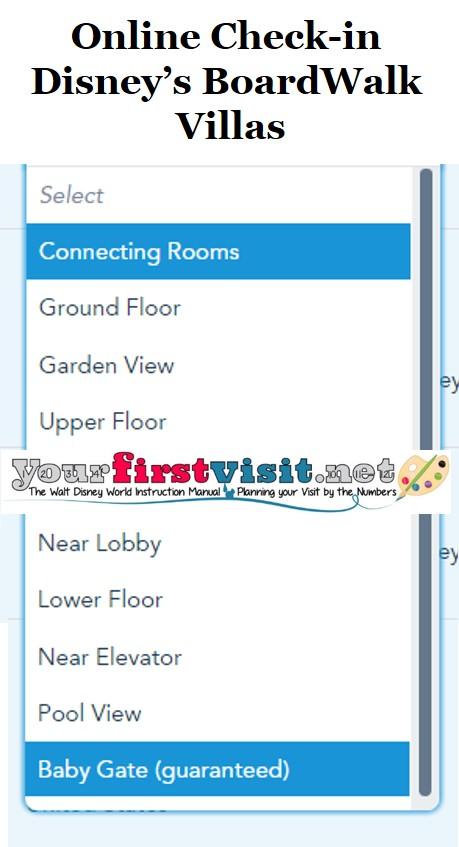 Disney's BoardWalk Villas Online Check-in from yourfirstvisit.net