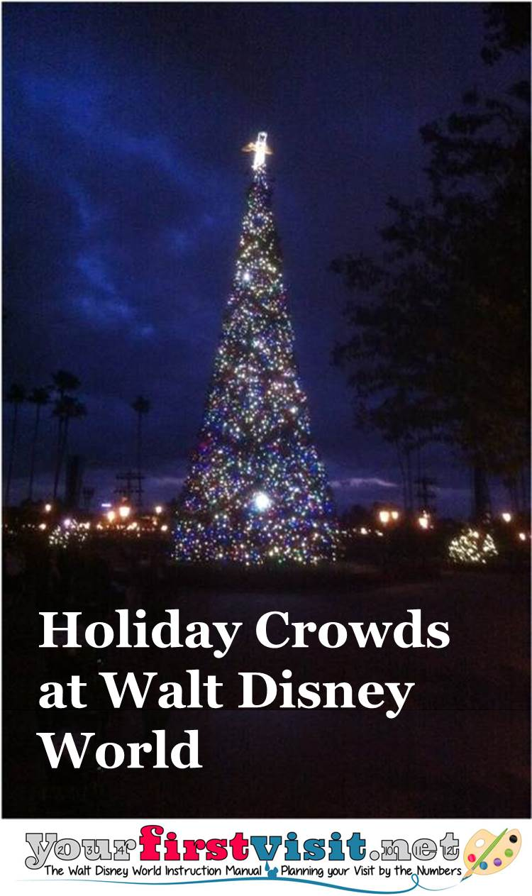 Holiday 2015-2016 Crowds at Disney World from yourfirstvisit.net