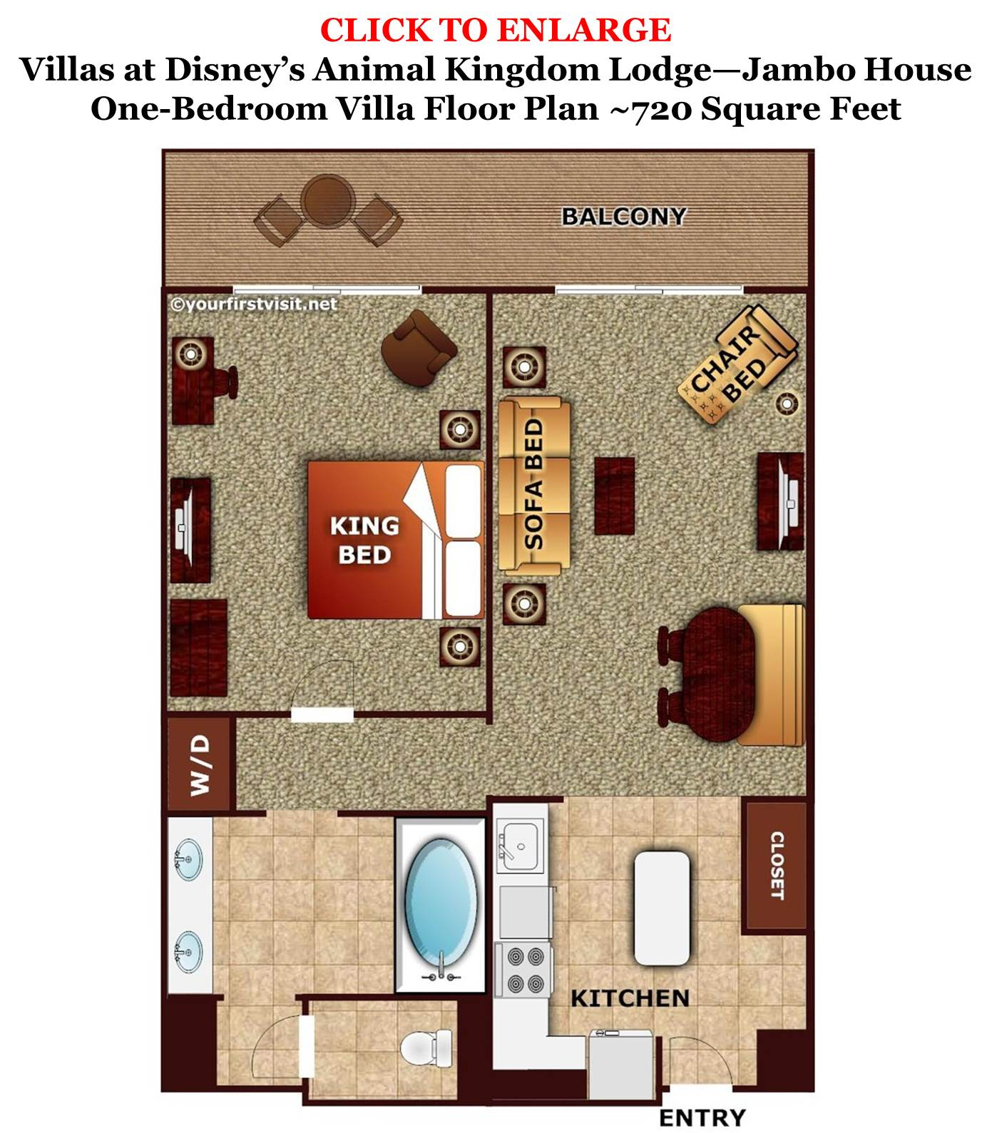 Disney 39 s jambo house one bedroom villa floor plan from for Animal kingdom 2 bedroom villa floor plan