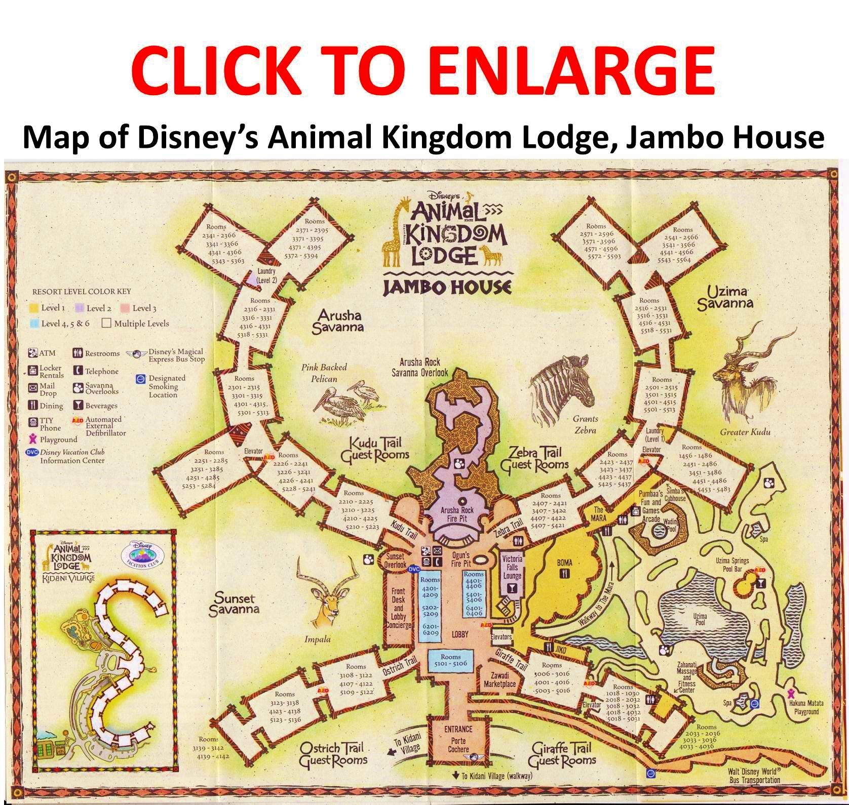 Disney Jambo House Dvc Room Map