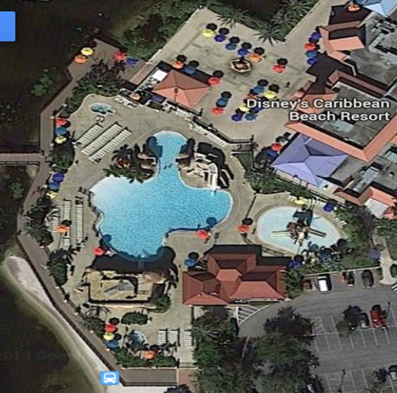 Main Pool Disney's Caribbean Beach Resort