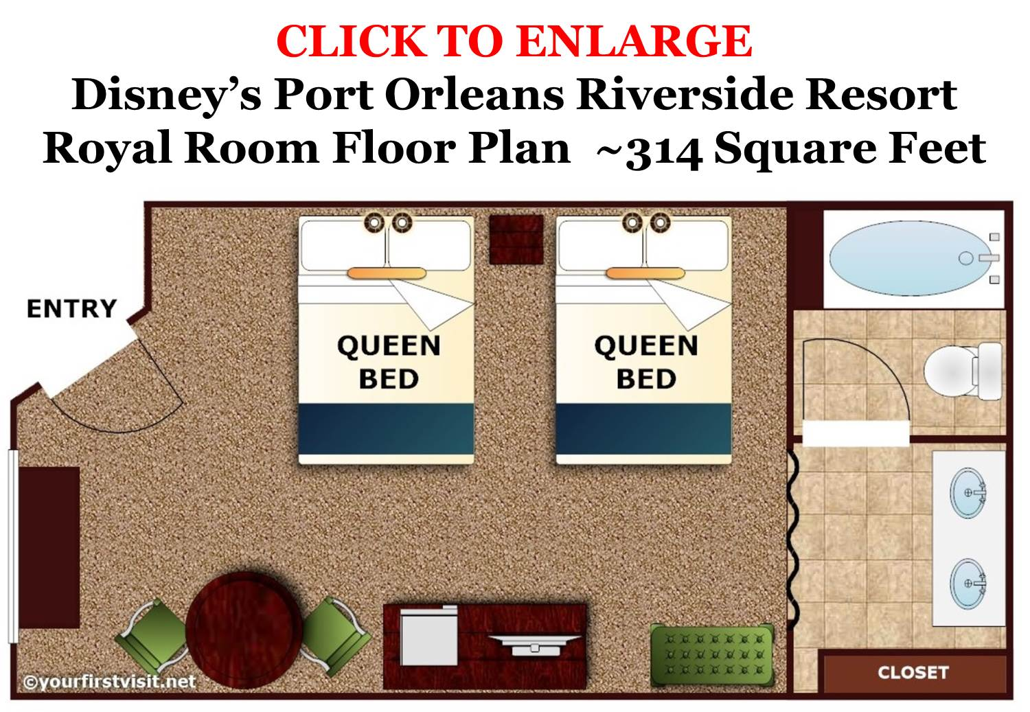 Royal Room Floor Plan Disney's Port Orleans Riverside Resort from yourfirstvisit.net