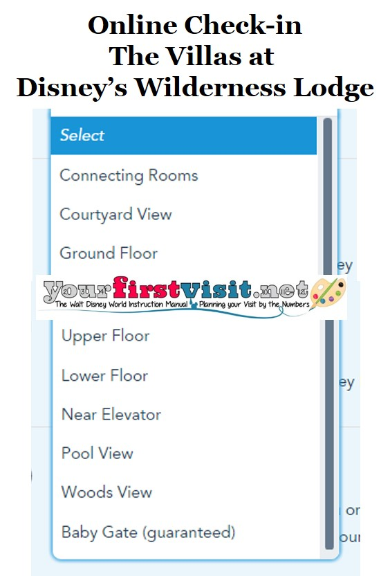 The Villas at Disney's Wilderness Lodge Online Check-in from yourfirstvisit.net