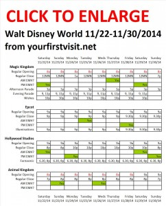 Disney World 11-22 to 11-30-2014 from yourfirstvisit.net