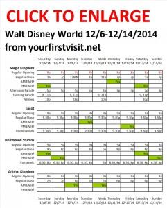 Disney World 12-6 to 12-14-14 from yourfirstvisit.net