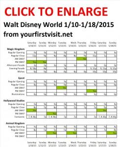 Disney World 1-10 to 1-18-2015 from yourfirstvisit.net