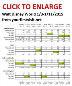 Disney World 1-3 to 1-11-2015 from yourfirstvisit.net