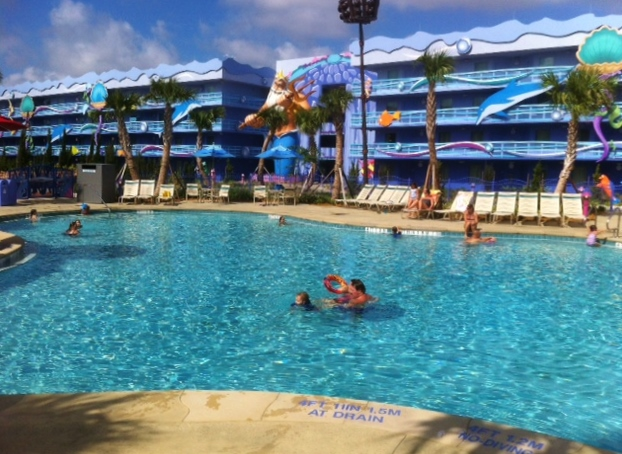 The Little Mermaid Pool at Disney's Art of Animation Resort from yourfirstvisit.net