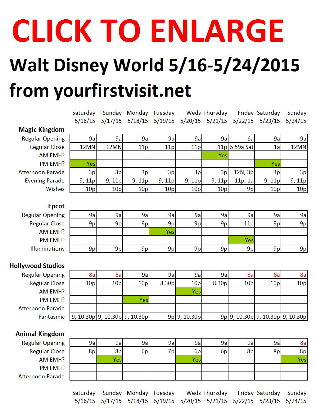 Disney World 5-16 to 5-24-2015 from yourfirstvisit.net