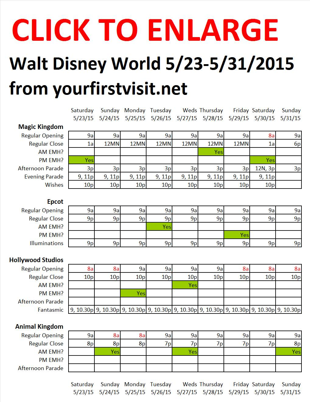 Disney World 5-23 to 5-31-2015 from yourfirstvisit.net