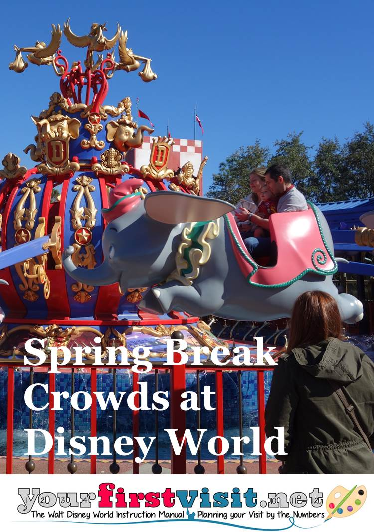 Spring Break Crowds at Disney World from yourfirstvisit.net