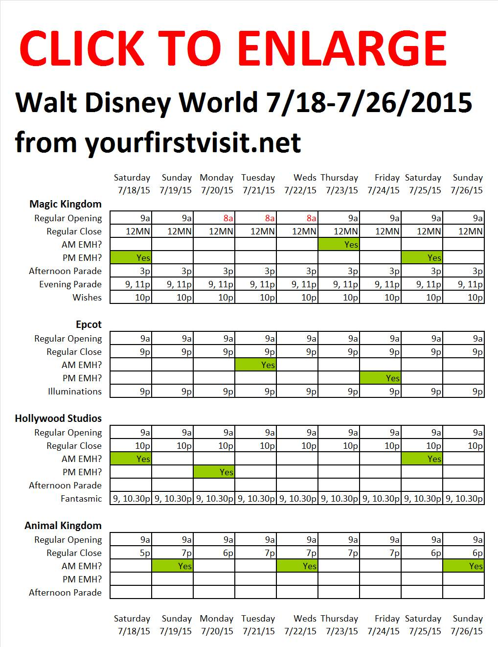Disney World 7-18 to 7-26-2015 from yourfirstvisit.net