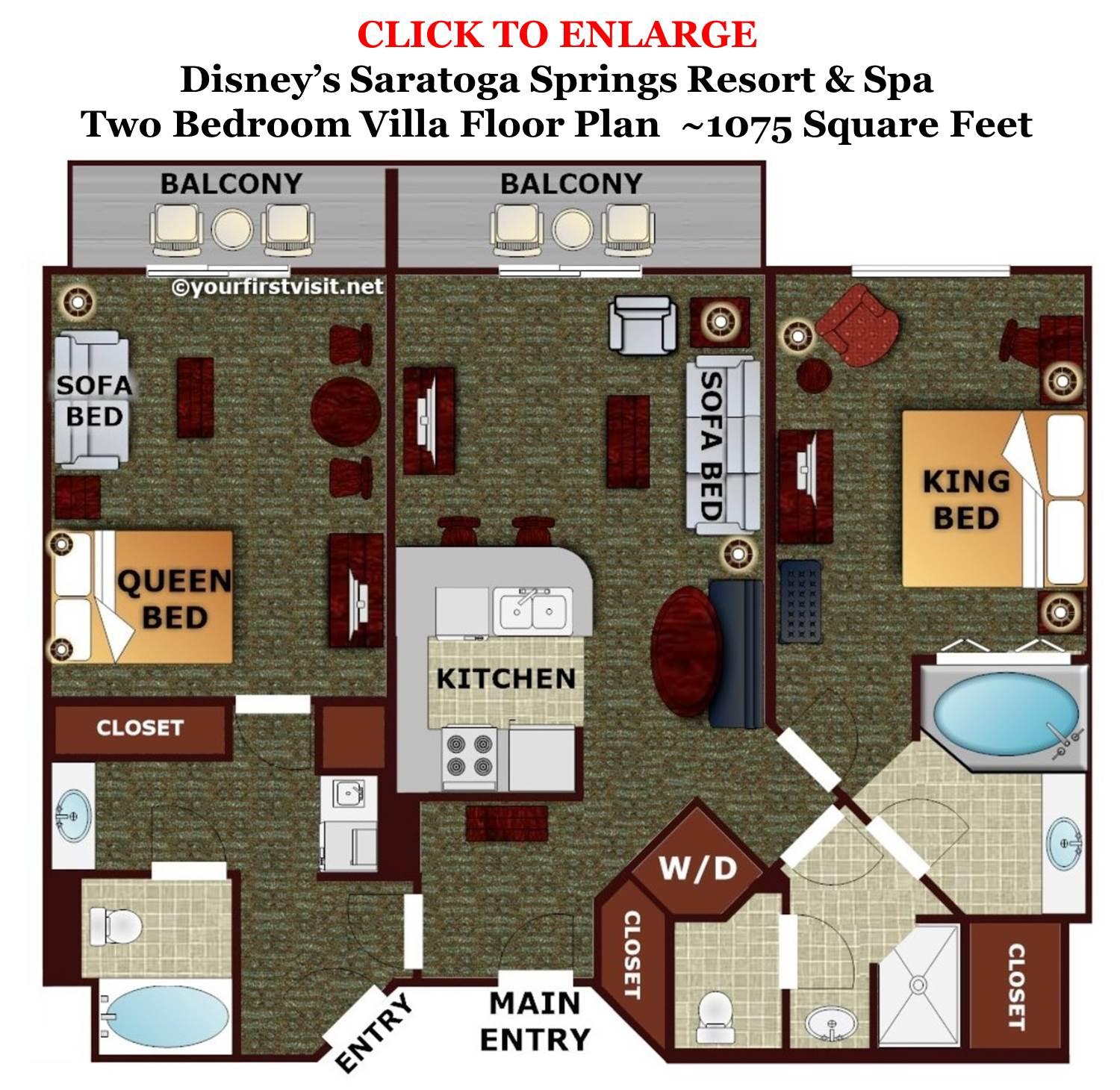 Review disney 39 s saratoga springs resort spa page 5 for 2 bedroom villa floor plans