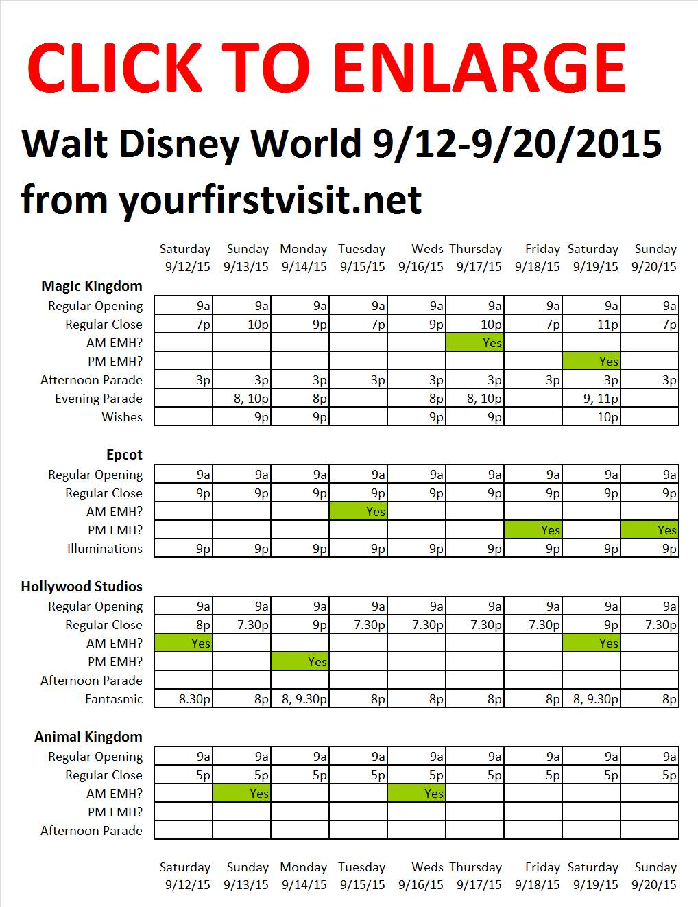 Disney World 9-12 to 9-20-2015 from yourfirstvisit.net