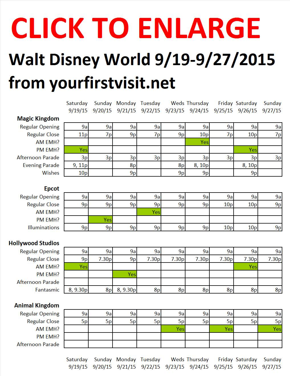 Disney World 9-19 to 9-27-2015 from yourfirstvisit.net