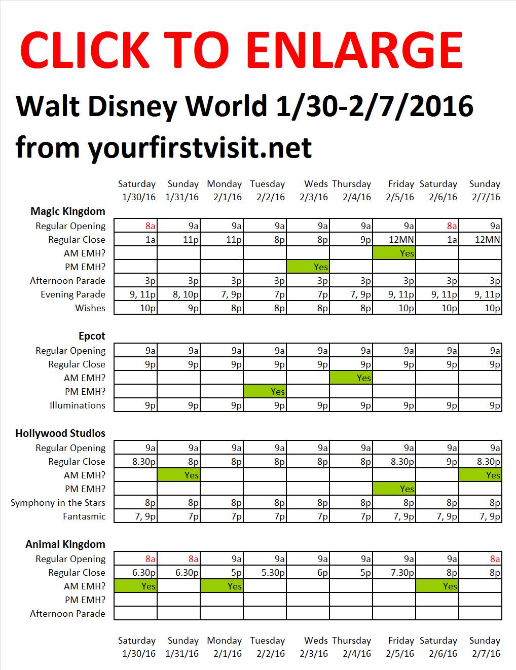 Disney World 1-30 to 2-7-2016 from yourfirstvisit.net