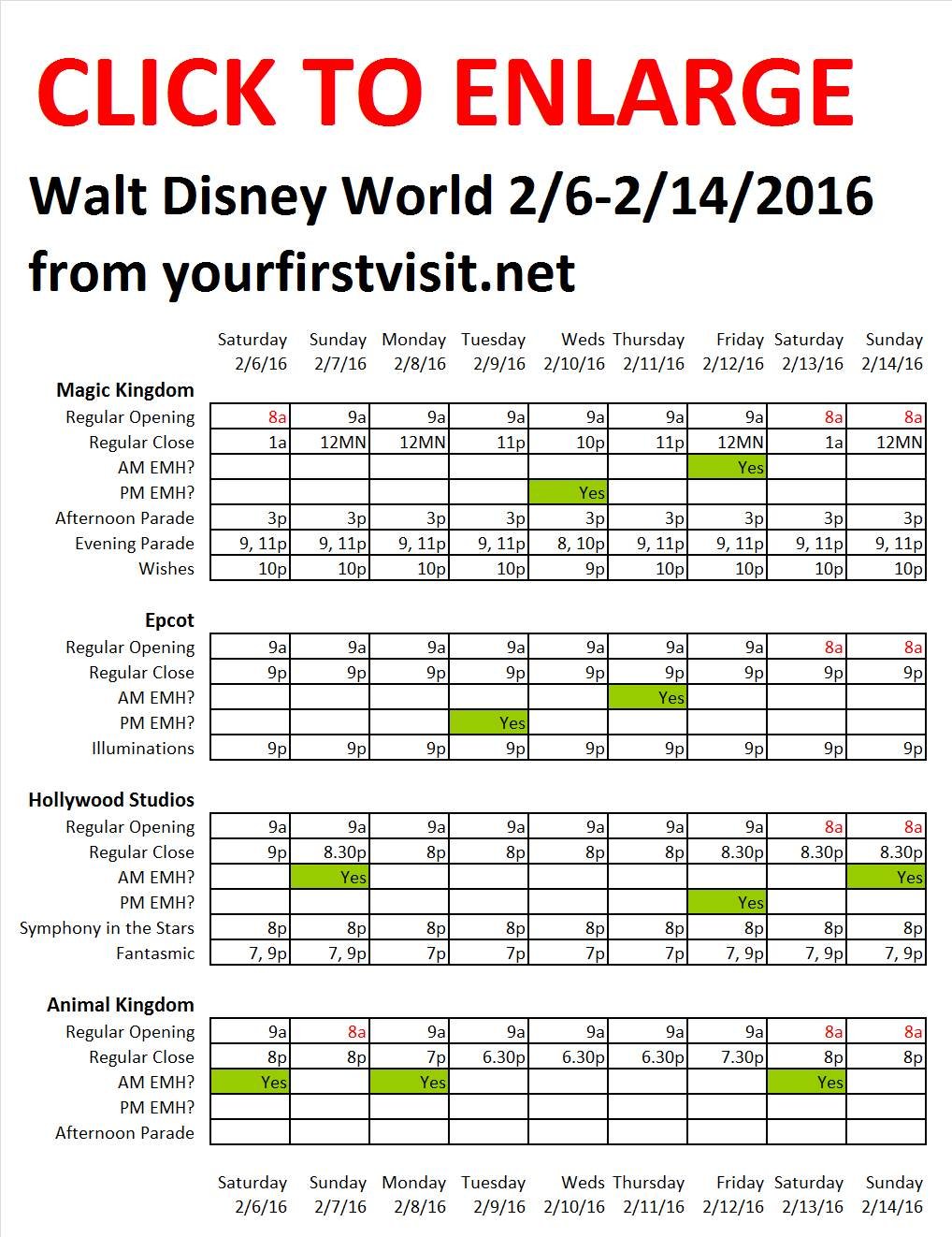 Disney World 2-6 to 2-14-2016 from yourfirstvisit.net