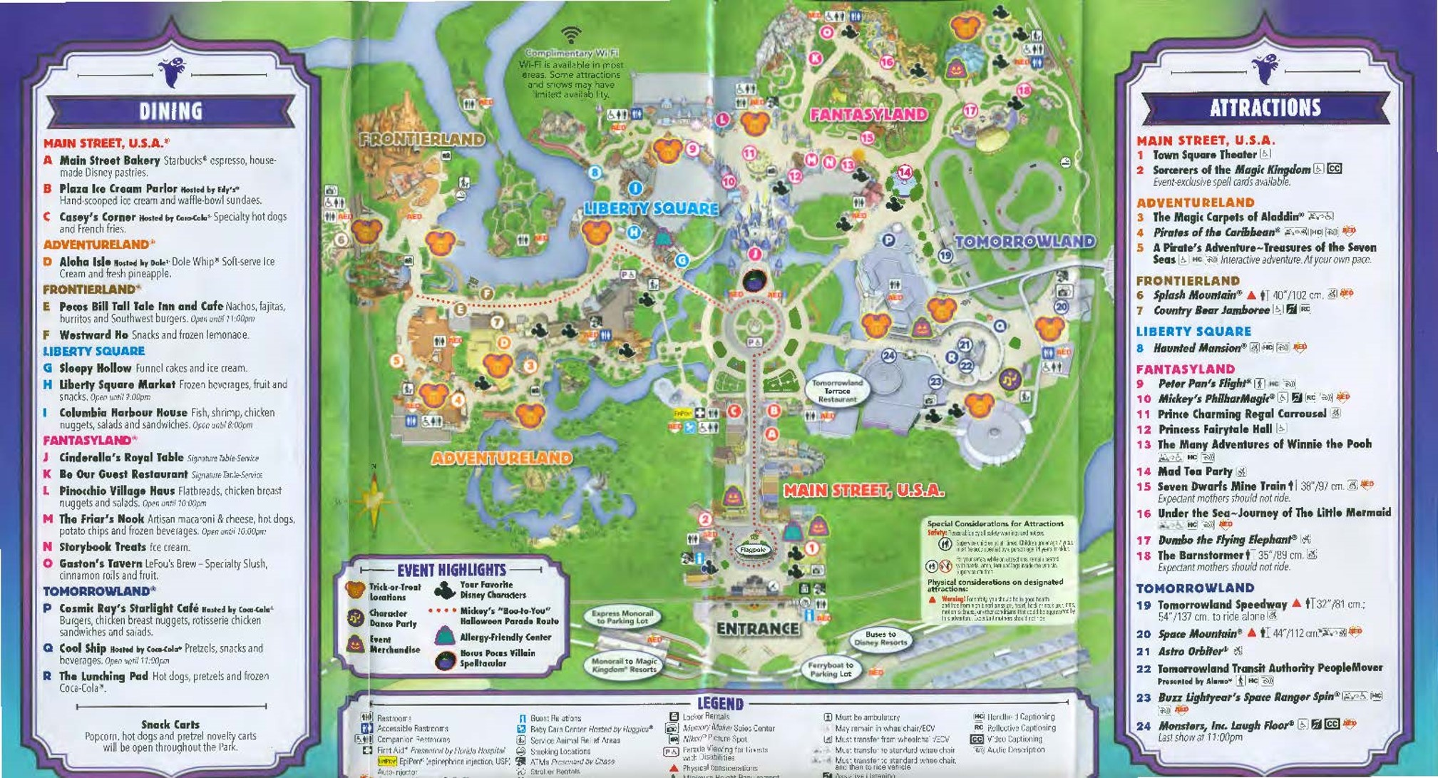 Map Mickey's Not So Scary Halloween Party 2016 Page 2 from yourfirstvisit.net