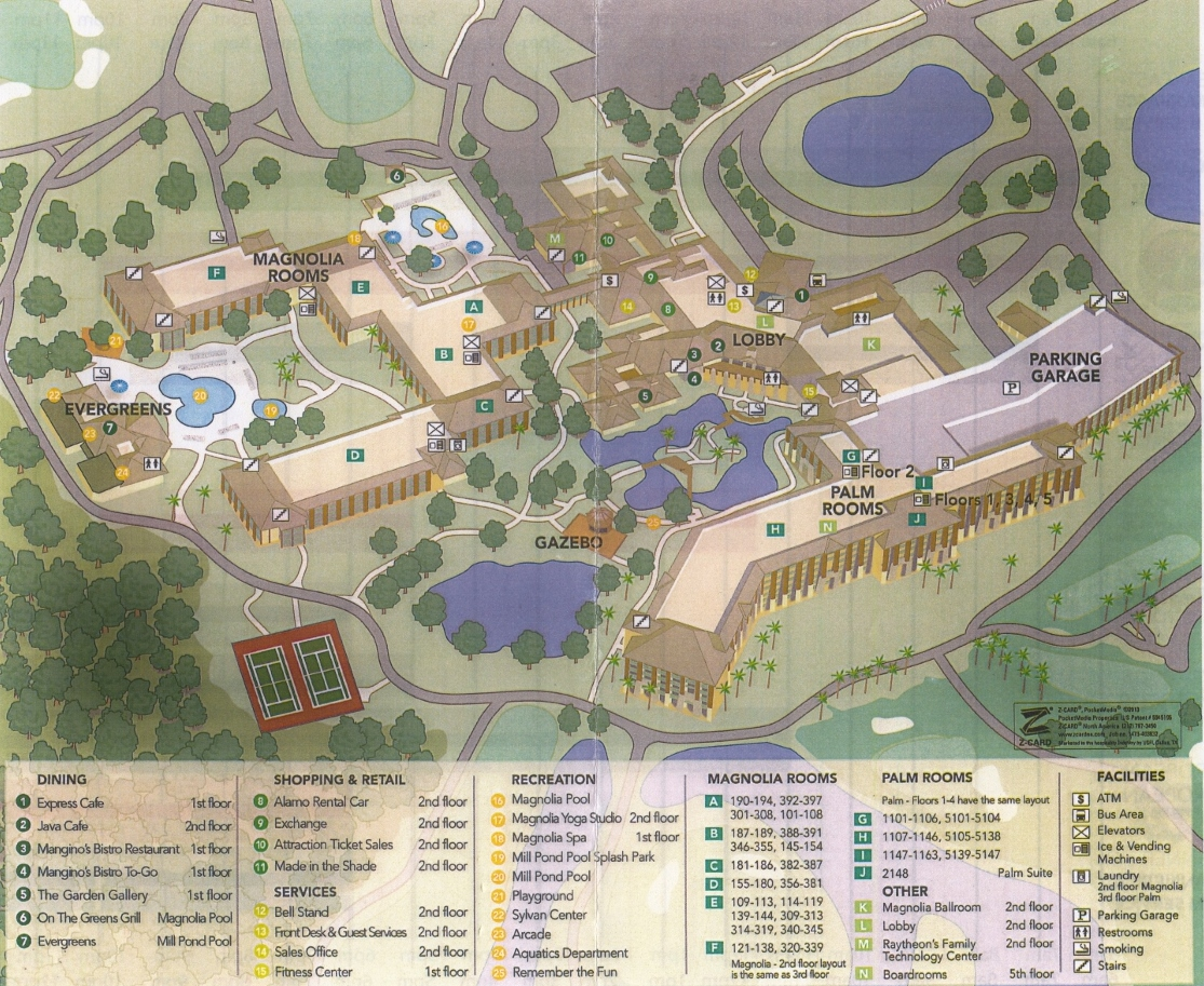 Map Shades of Green Resort at Walt Disney World