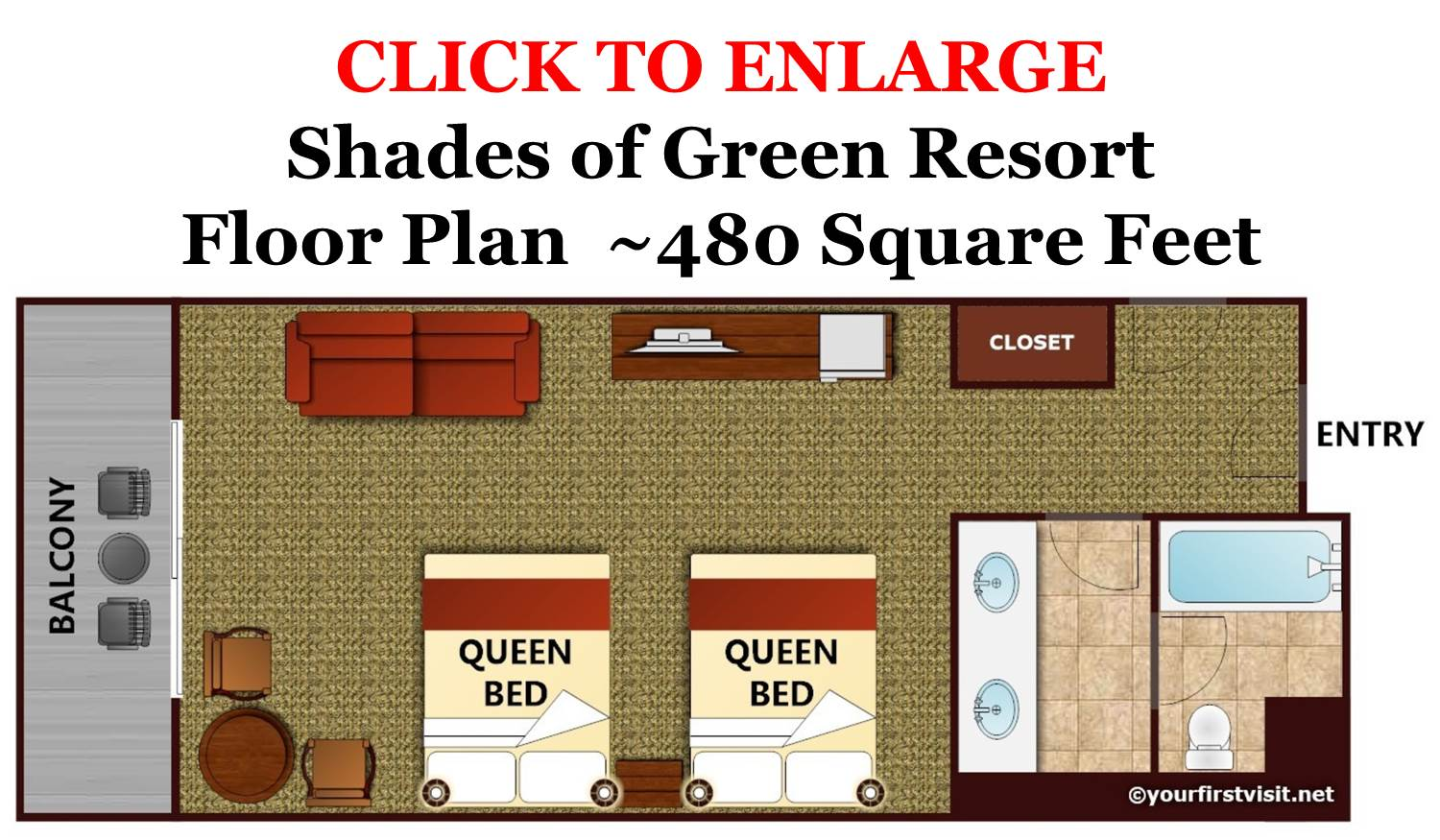 Shades of Green Floor Plan from yourfirstvisit.net