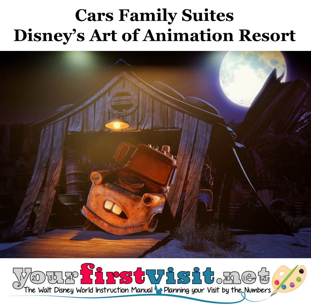 Cars Family Suites Disney's Art of Animation Resort from yourfirstvisit.net