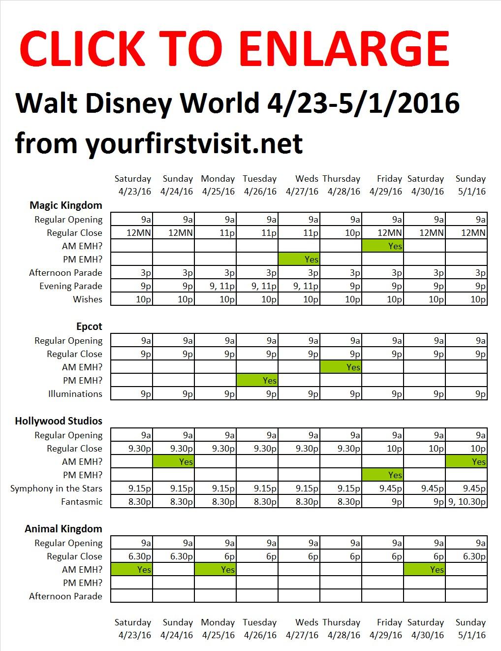 Disney World 4-23 to 5-1-2016 from yourfirstvisit.net